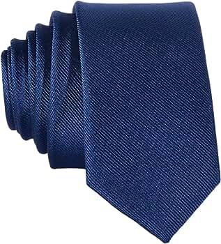 DonDon Corbata estrecha 5 cm de color azul marino - hecho a mano // diferentes colores seleccionables: Amazon.es: Ropa y accesorios