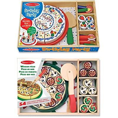 Melissa & Doug Pizza Party and Birthday Cake: Toys & Games