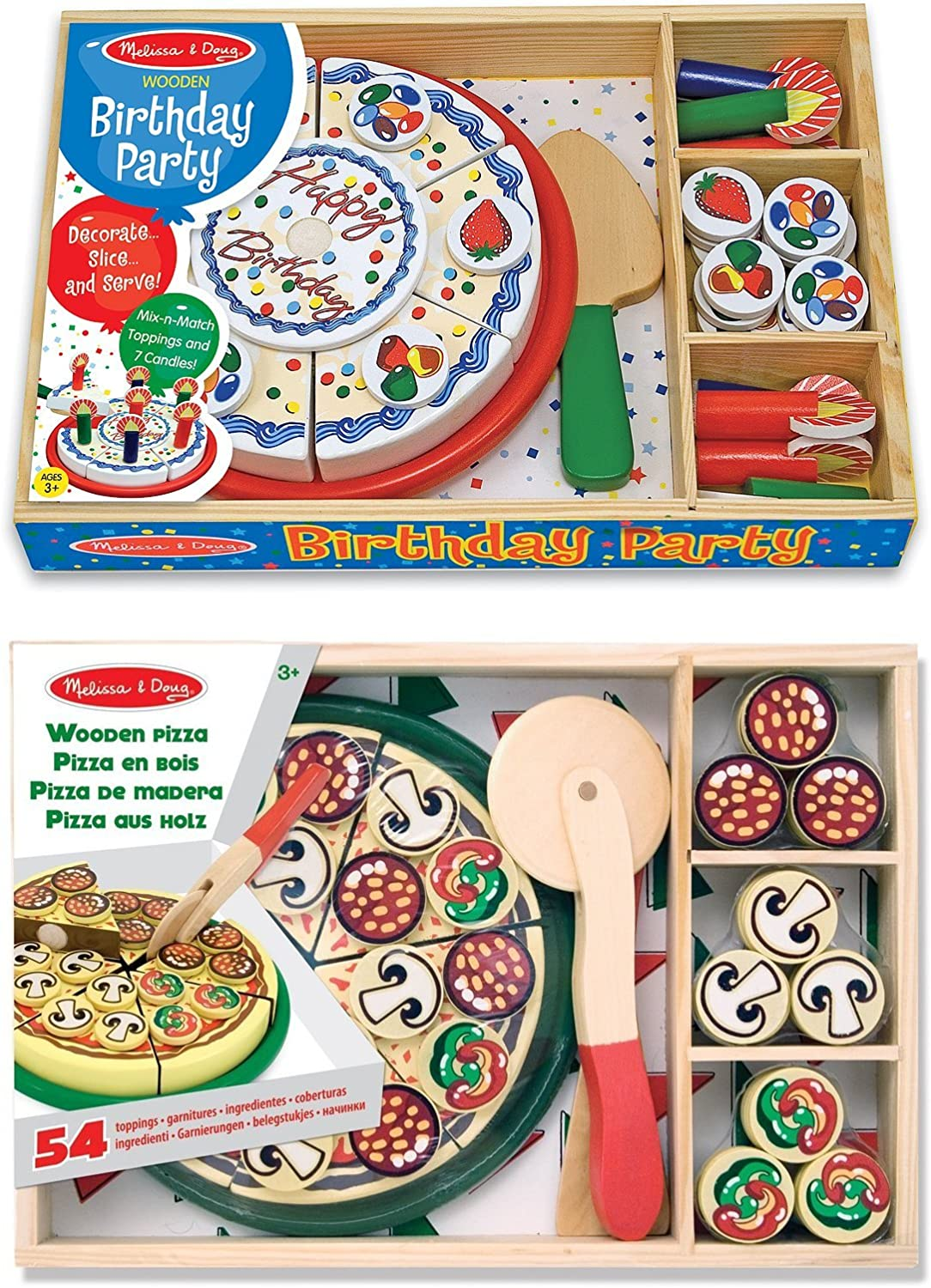 Amazon.com: Melissa & Doug – Pizza Party y tarta de ...