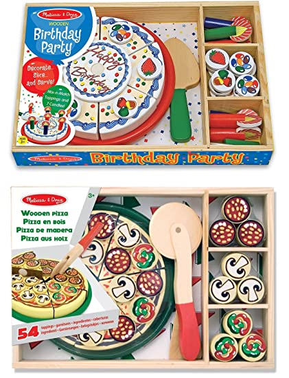 Play Food Pretend Play Melissa Doug Wooden Pizza And Cake
