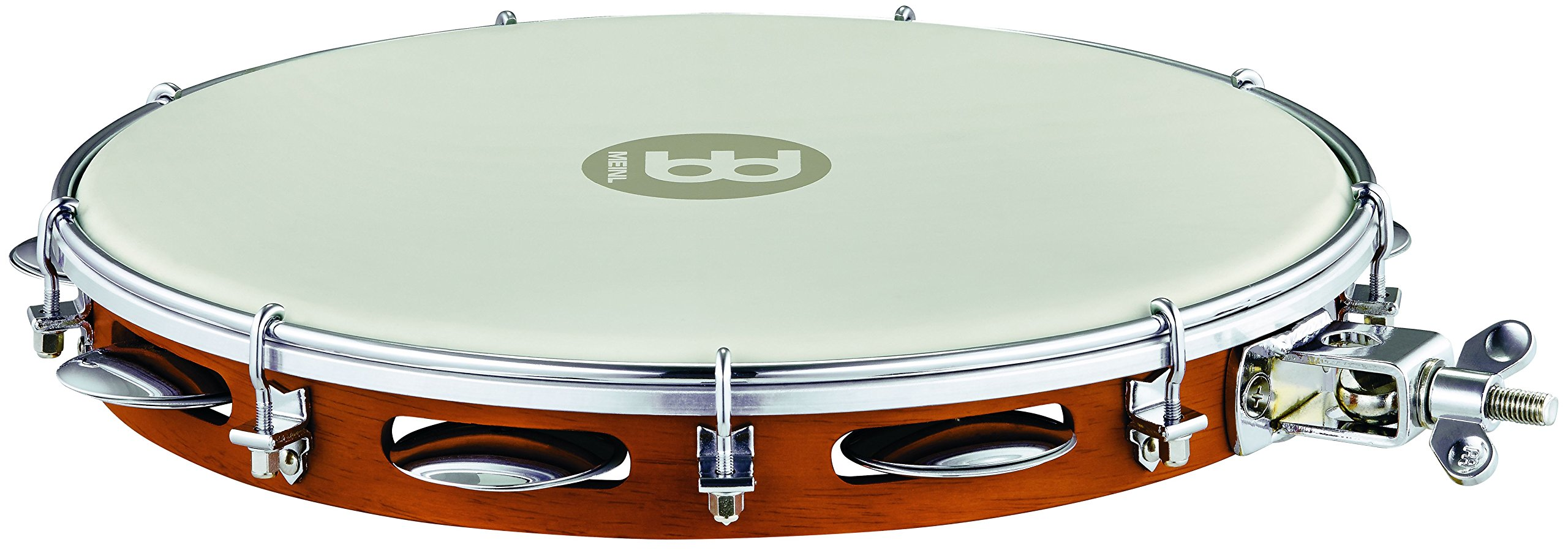Meinl Percussion PA12CN-M-TF-H Traditional 12-Inch Wood Pandeiro with Synthetic Head, Mountable by Meinl Percussion