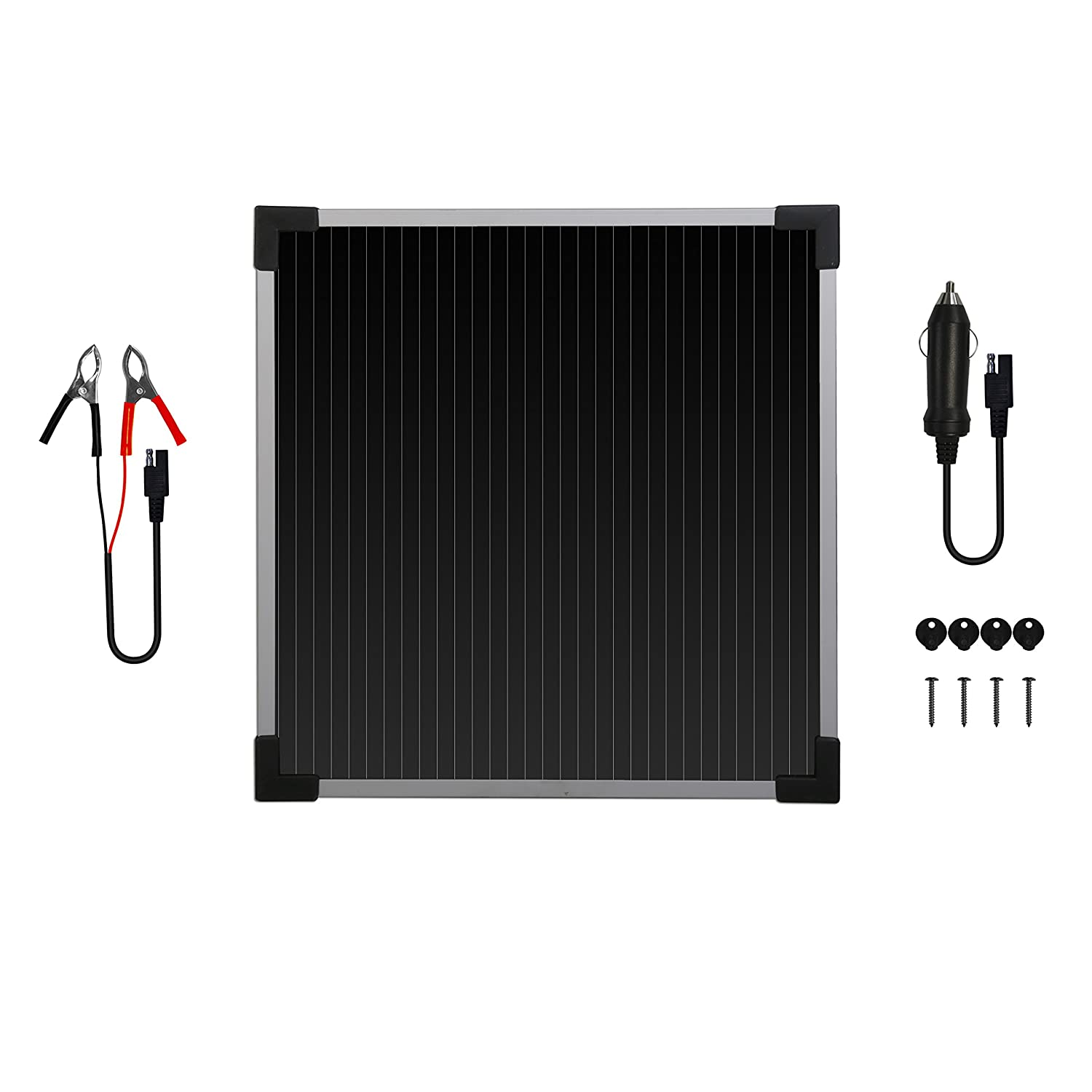 Sunforce 50022 5 Watt Solar Battery Trickle Charger 220v Ac Motor Wiring Together With Panels To Batteries Automotive