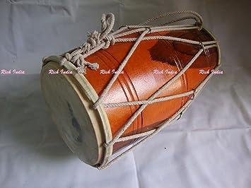 comprar Dholak tambor ~ ~ Dholki ajustados con cuerda ~ Dhol ~ uso en Bhajan ~ Kirtan ~ Yoga ~ Bajan: Amazon.es: Instrumentos musicales