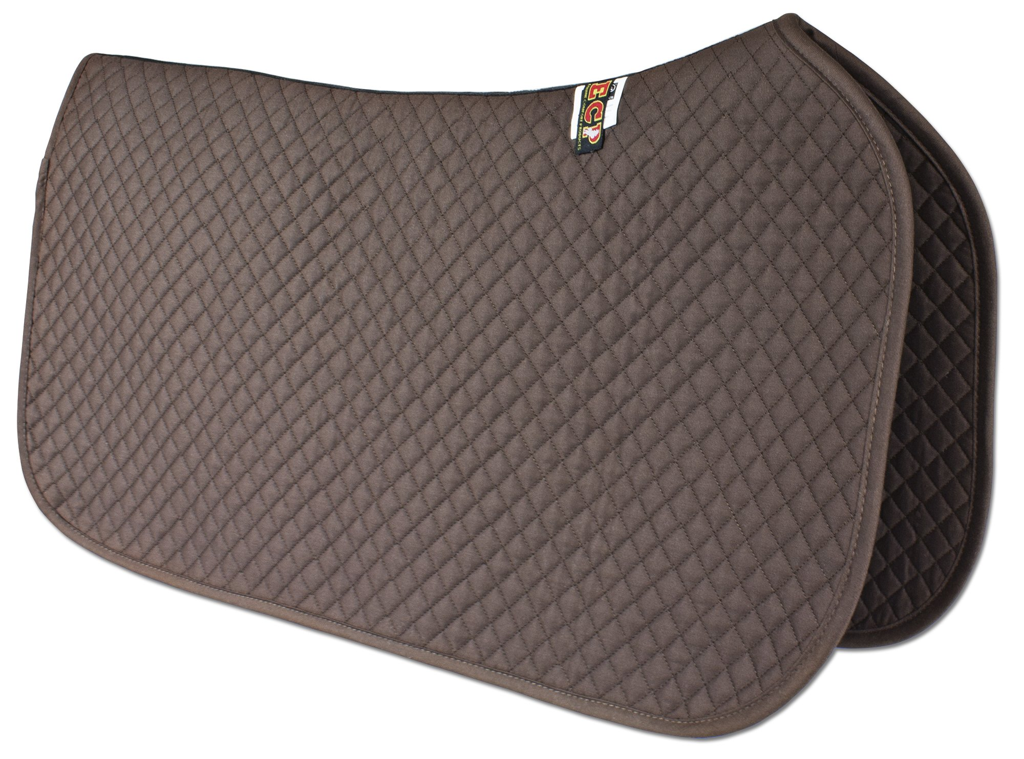 ECP Western All Purpose Diamond Quilted Cotton Saddle Pad Color Brown