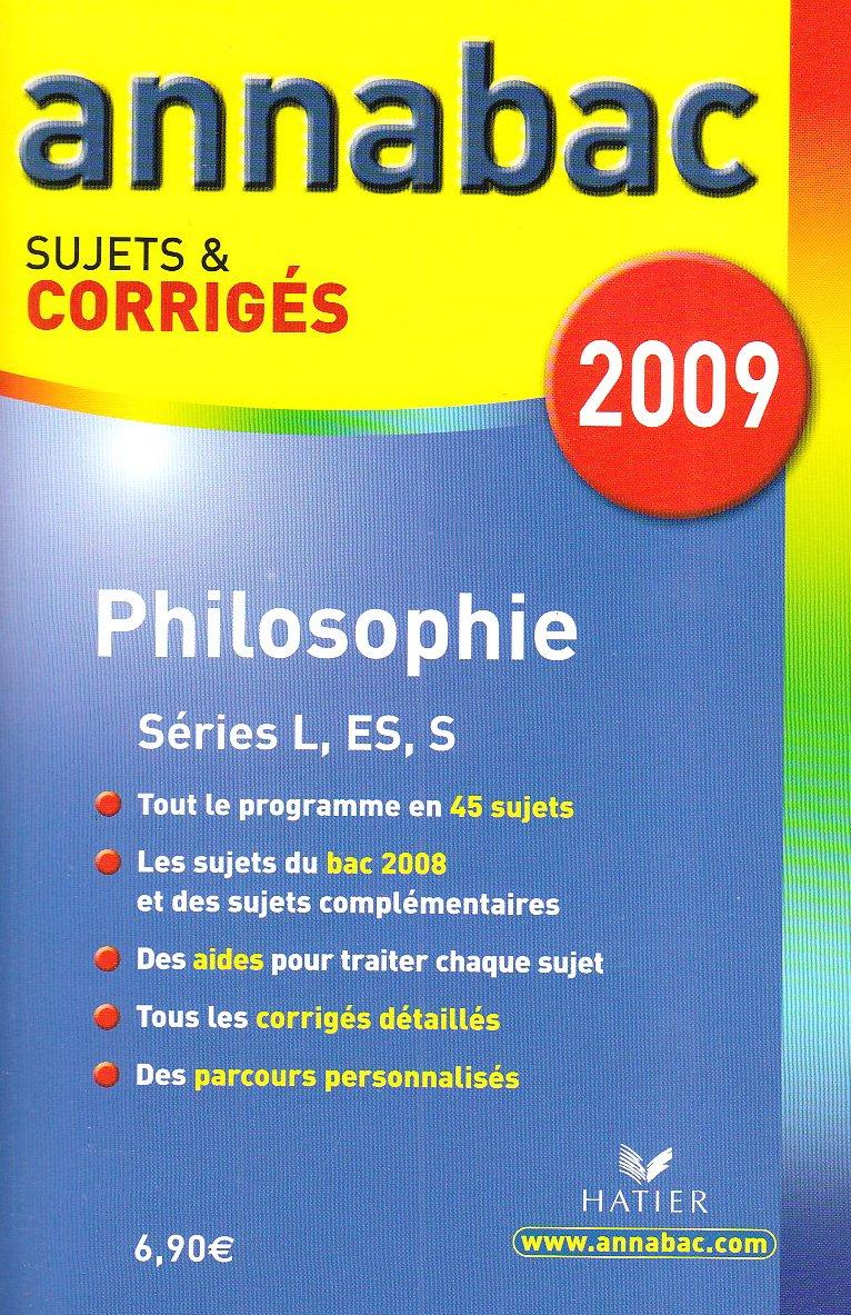 Philosophie L, ES, S : Sujets et corrigés (French) Paperback – 2008