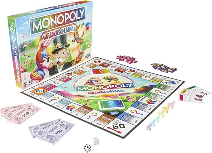 Amazon.com: Monopoly Unicorns vs Llamas, Estándar, Marrón/A ...