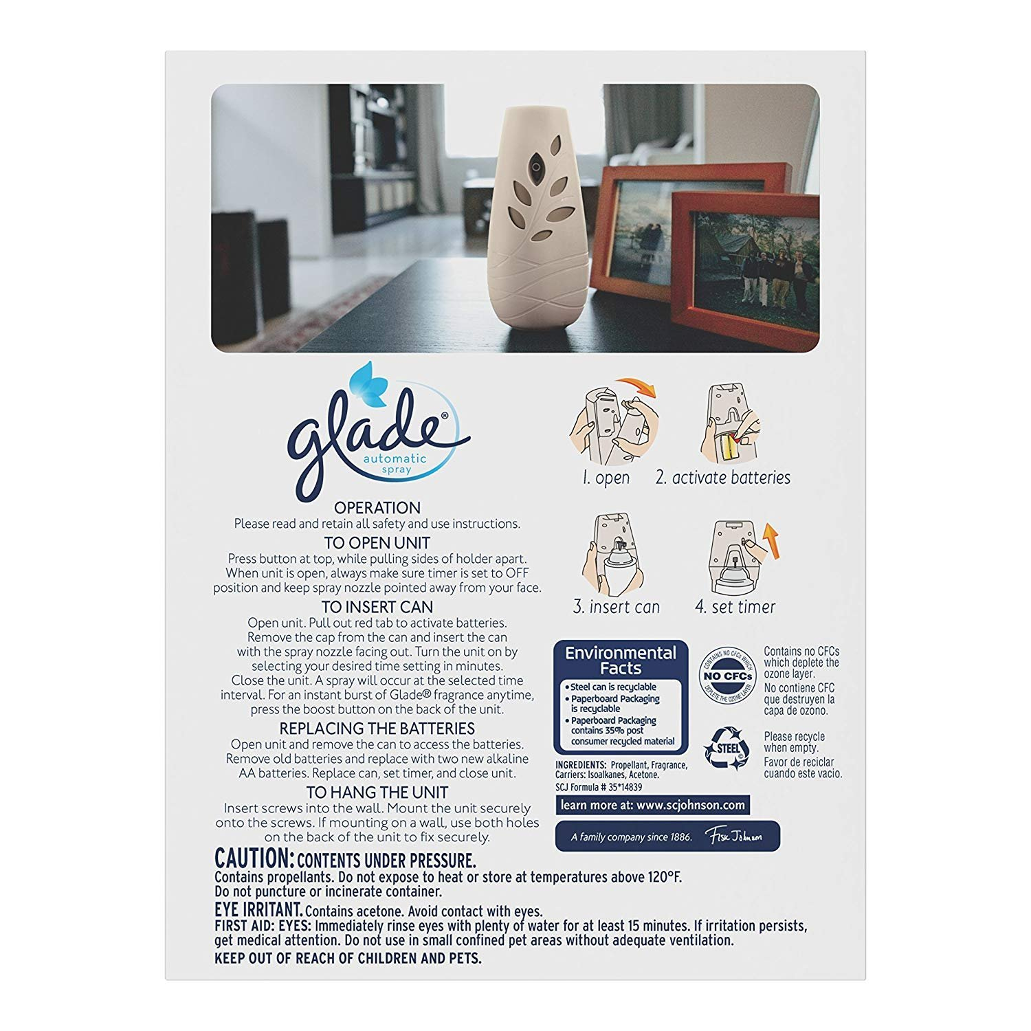 Glade Automatic Spray Air Freshener Hawaiian Breeze Starter (6.2 oz) (Pack - 6) by Glade (Image #2)
