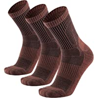Merino Wool Hiking Socks-3 Pack Performance Cushion Crew Socks for Men Women-Warm Breathable