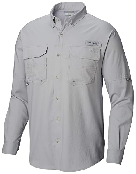 b5e616bf5ff Columbia Men's Blood & Guts iii Long Sleeve Woven Shirt, Cool Grey, ...