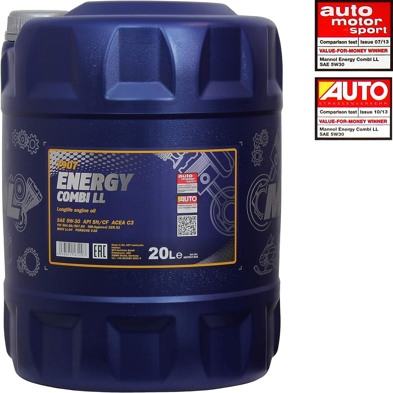 20l Motoröl Mannol Energy Combi Ll 5w 30 4xleak Stop Motor Doctor Auto