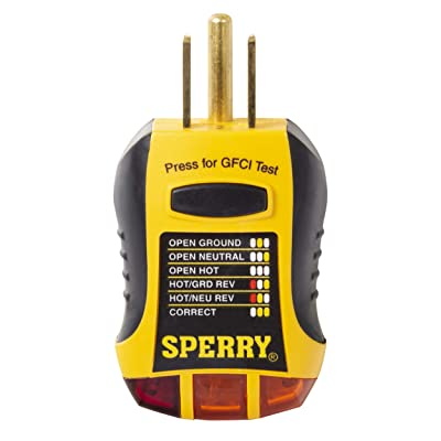 Sperry Instruments GFI6302 GFCI Outlet / Receptacle Tester