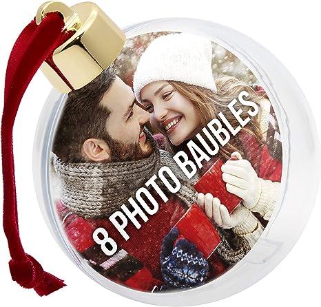 Christbaumkugel Weihnachtsbaum Ornament Weihnachtskugel Foto Ball 1 St/ück Kunststoff Klar Foto-Weihnachtskugeln Fotokugel Weihnachten