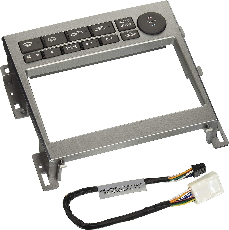 Metra 95-7605A Double DIN Installation Kit for 2005-2007 Infiniti G35 Vehicles METRA Ltd Silver