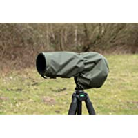 Waterproof Camera/Lens Rain Cover For Nikon 200-500 F5.6 E ED VR AF-S, OLIVE Green Camo, & Carry Pouch