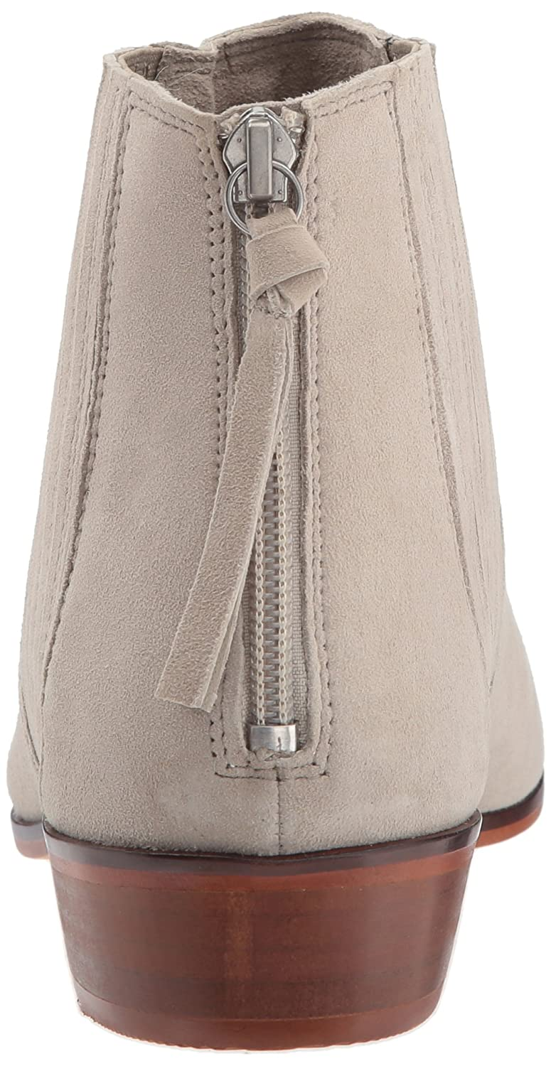 Kenneth Cole REACTION Women's Loop-y Flat Bootie Finger Gusset Suede Ankle Bootie Flat B06ZYM9WVS 10 B(M) US|Taupe ccb618