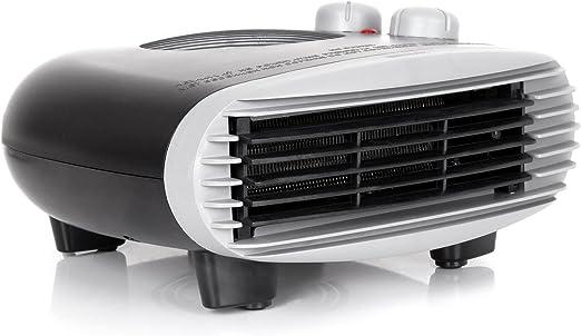Duronic FH24K 2 velocidades y Ventilador Fr/ío Reacondicionado Calefactor de Aire Caliente El/éctrico Bajo Consumo con Termostato Regulable Potencia de 2400W