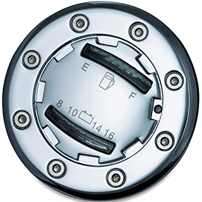 Kuryakyn 7282 Motorcycle Accent Accessory: Informer LED Fuel and Battery Gauge for 1988-2020 Harley-Davidson Motorcycles, Chrome: Automotive