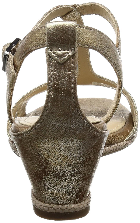 Ecco Damen Rivas 45 II Offene Sandalen mit Keilabsatz, Gold (1091GOLD), 37 EU
