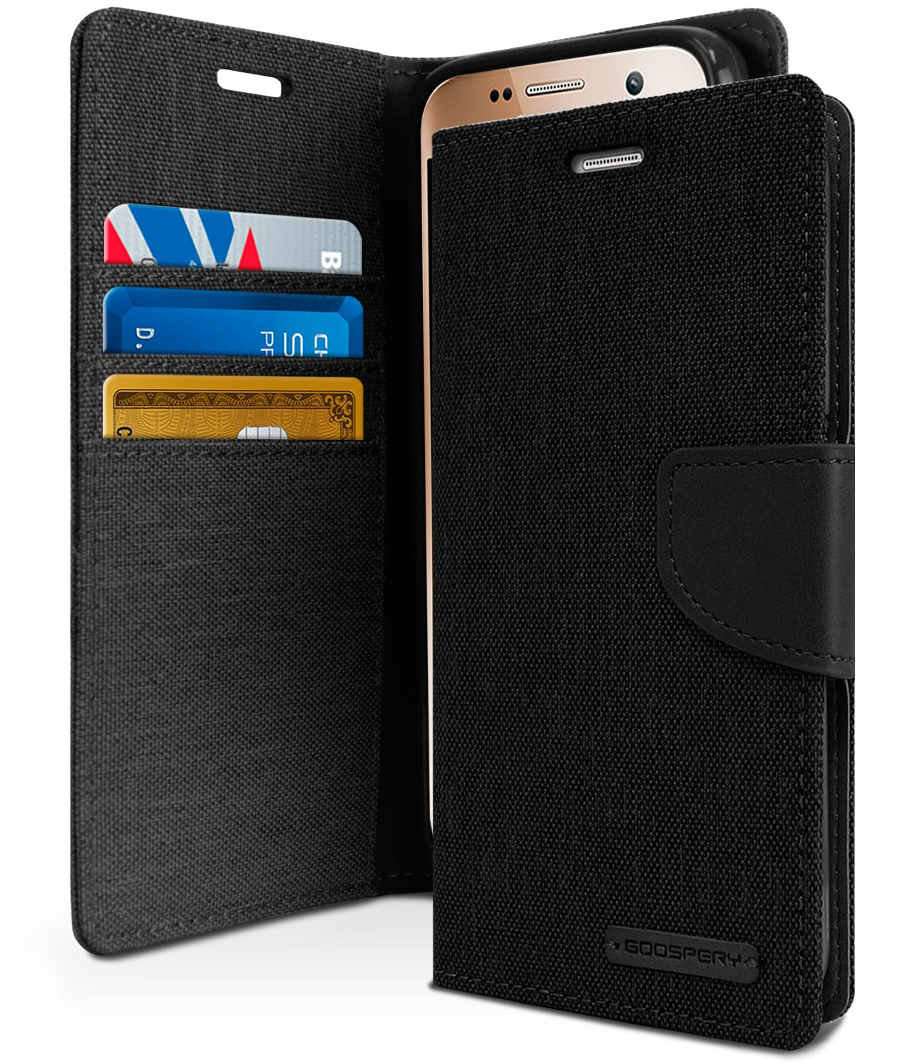 Galaxy S7 Case Drop Protection Goospery Canvas Diary Samsung S6 Navy Denim Material Wallet Id Card Cash Slot With Stand Flip Cover Tpu Casing For