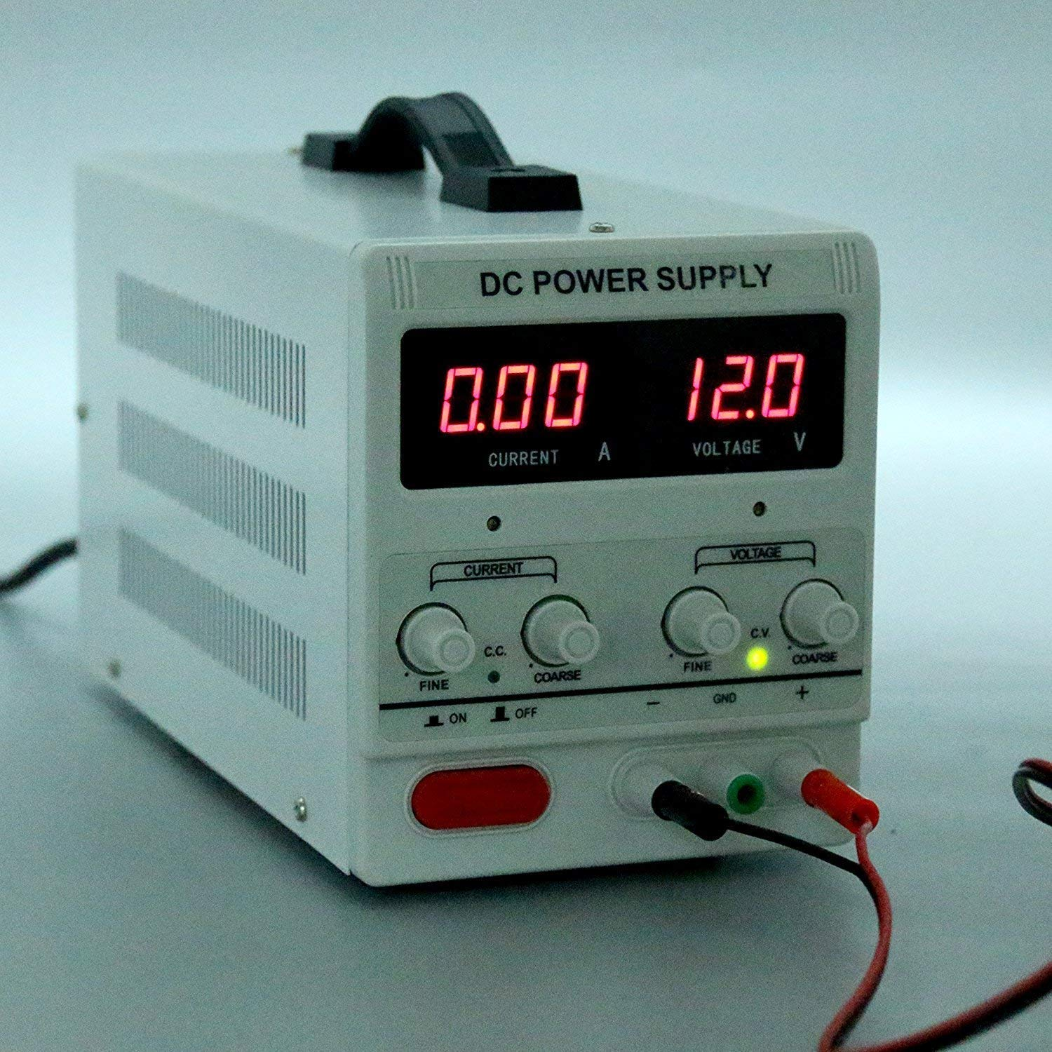 HaoFst Variable Adjustable Lab DC Bench Power Supply 0-30V 0-10A US Power Cord