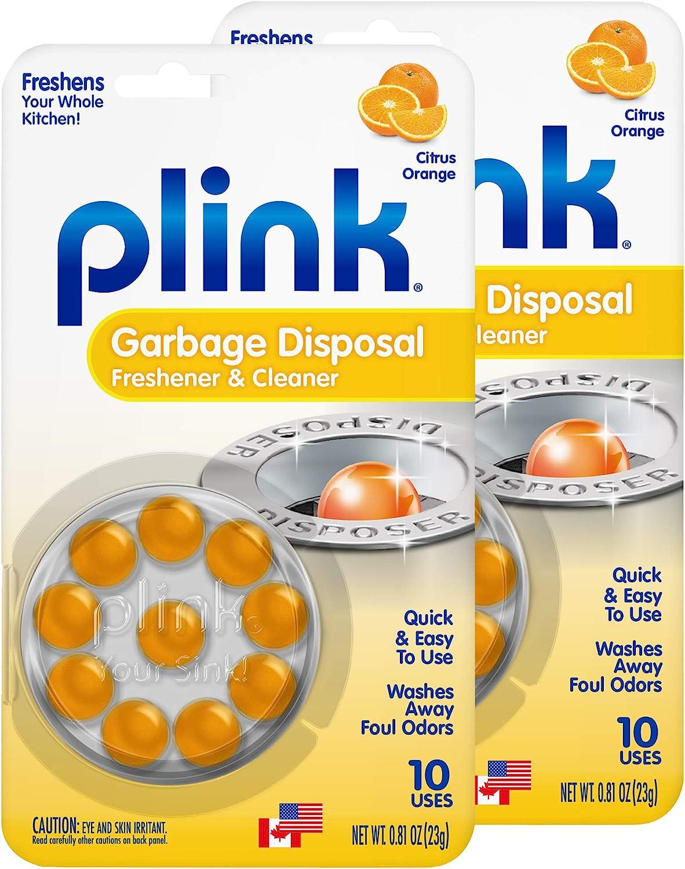 Plink Garbage Disposer Cleaner and Deodorizer, 20 Count, Orange