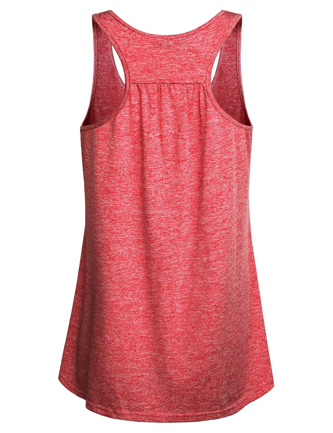 Miusey Tank Tops for Women Juniors Sleeveless Loose Fit Flowy Fitness Summer Activewear Running Yoga Workout Racerback in Sports Shirts Red M by Miusey (Image #2)