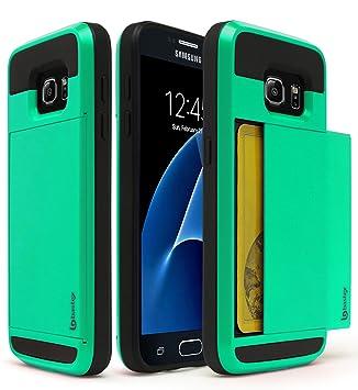 BASTEX Samsung Galaxy S7 Funda, Hybrid Negro Goma Silicona ...