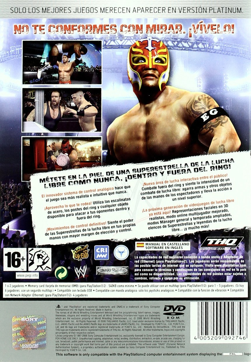 WWE Smackdown! Vs Raw 2007 Platinum: Amazon.es: Videojuegos