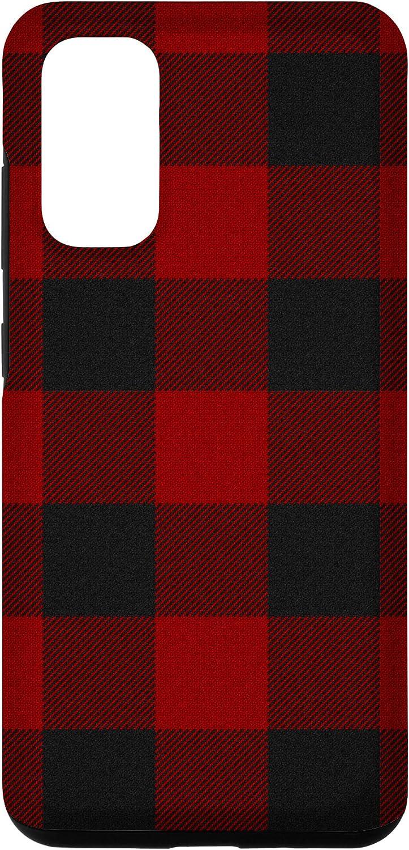 Galaxy S20 Red Buffalo Design Christmas Decor Plaid Pattern Case
