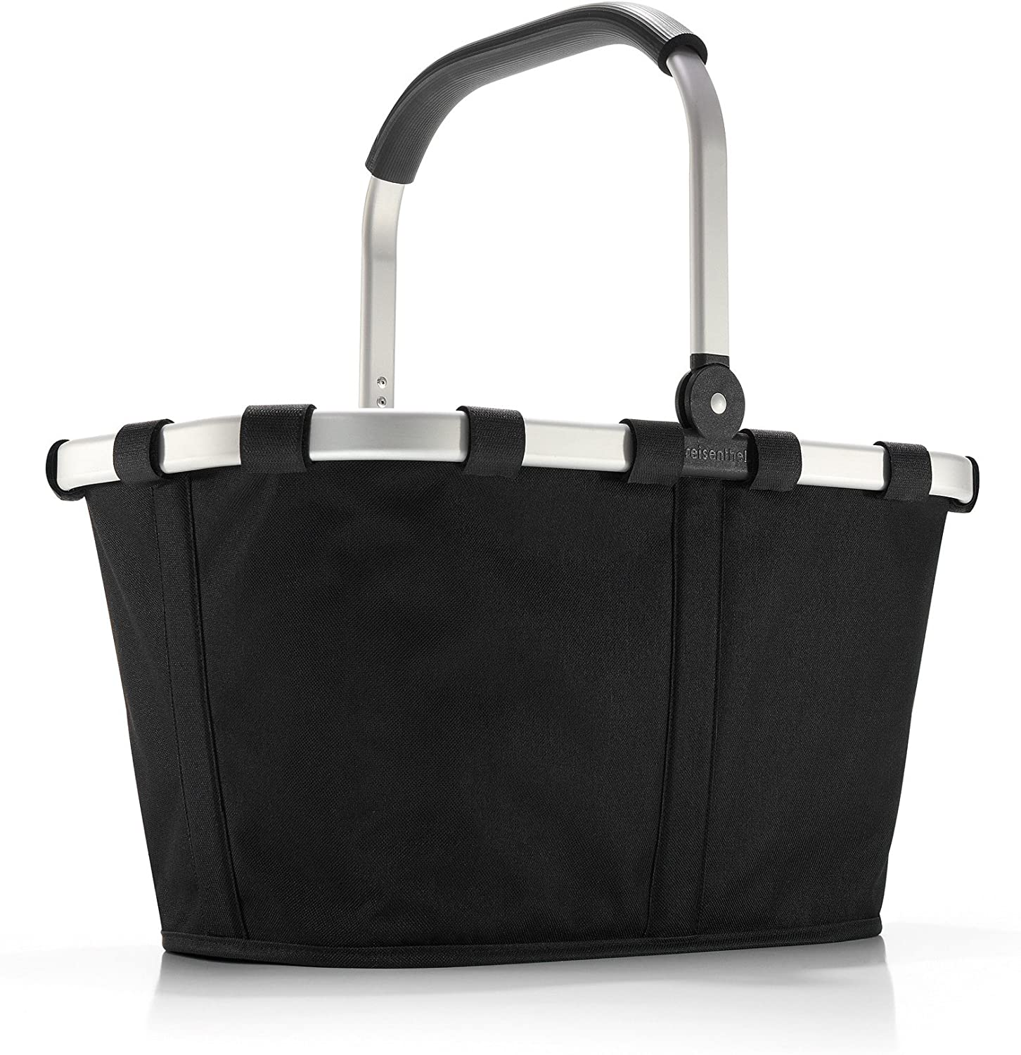 reisenthel Carrybag Fabric Picnic Tote, Sturdy Lightweight Basket for Shopping and Storage, Black