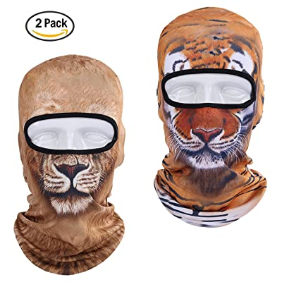 KAITUO 3D Animal Balaclava Face Mask Breathable Windproof UV Protection Fabric for Outdoor Sports Motorcycle Ski Cycling