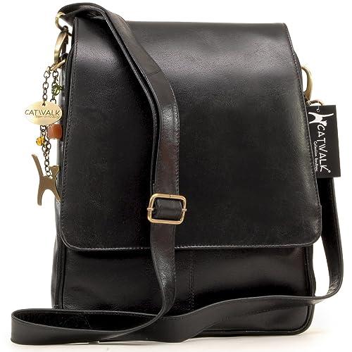 46d160d09ba8 Catwalk Collection Handbags - Women s Leather Cross Body Messenger Bag - A4  size Business Office Work