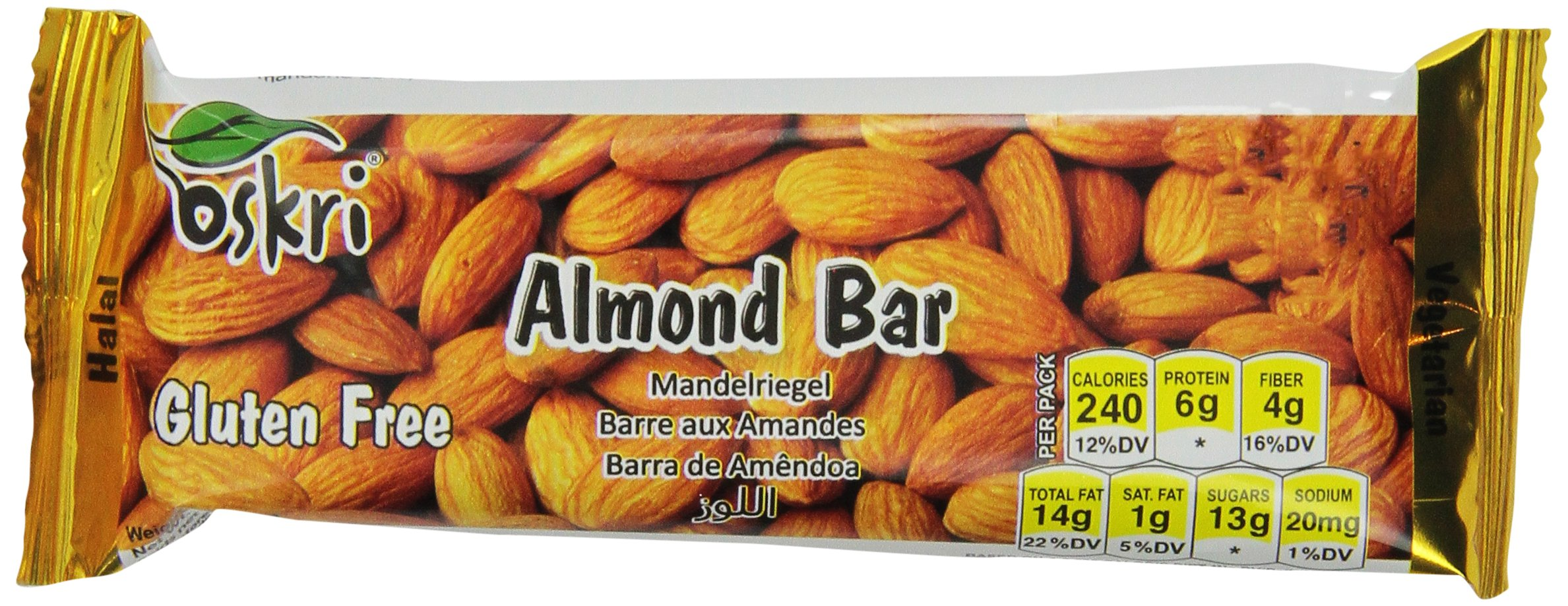 Oskri Almond Bar, 1.9-Ounce (Pack of 20)