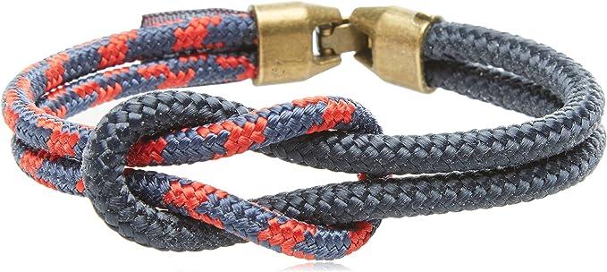 Nautiknot Pulsera náutica para hombre con nudo llano o square knot: Amazon.es: Joyería