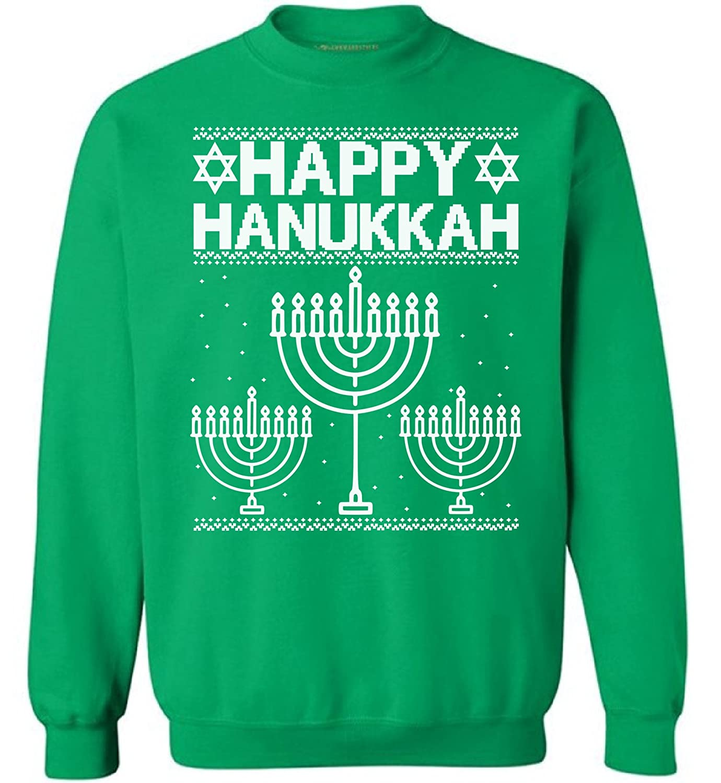 Awkward Styles Ugly Christmas Sweatshirt Happy Hanukkah Sweater Merry Xmas Gifts