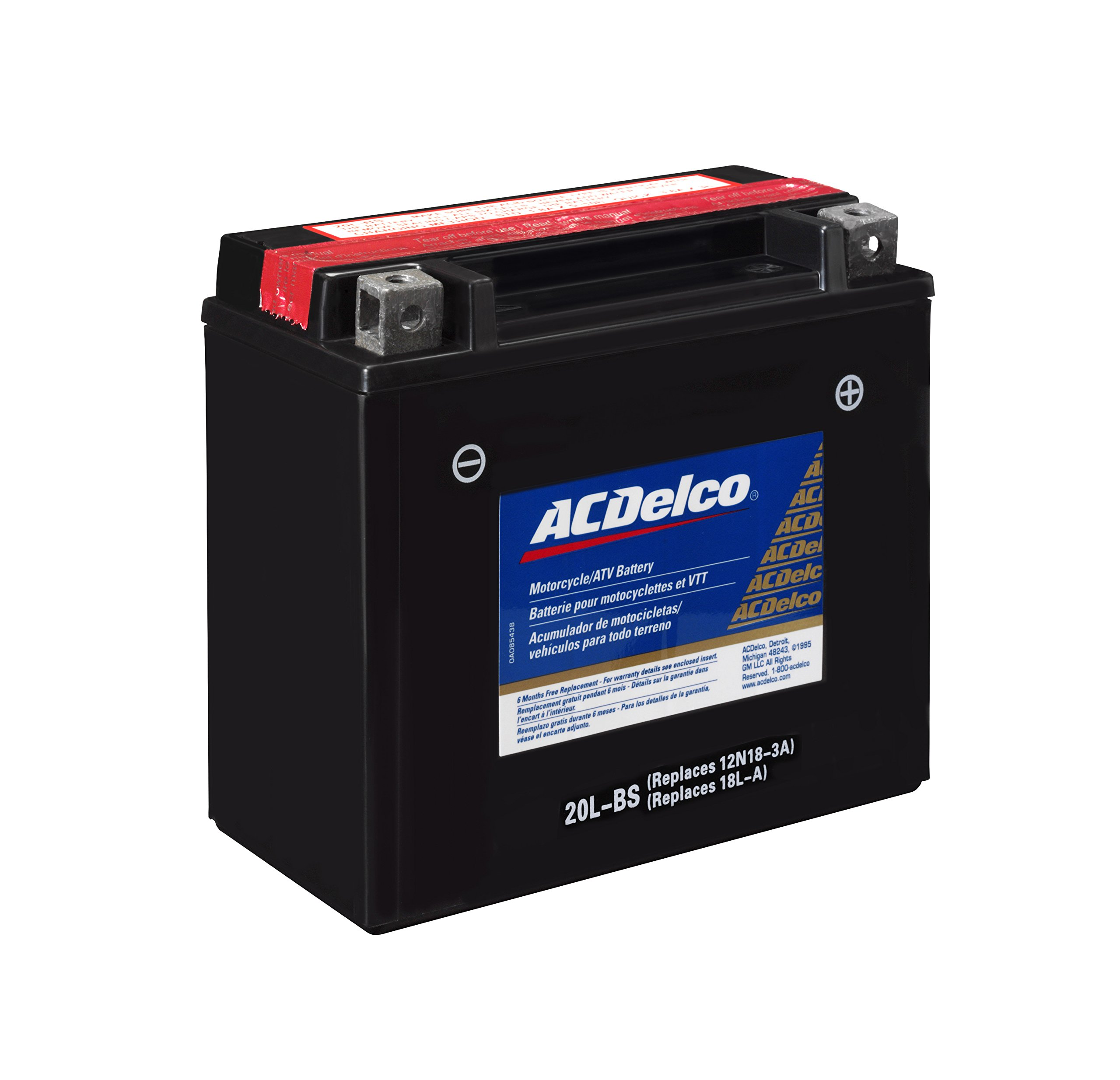 ACDelco ATX20LBS Specialty AGM Powersports JIS 20L-BS Battery by ACDelco (Image #2)