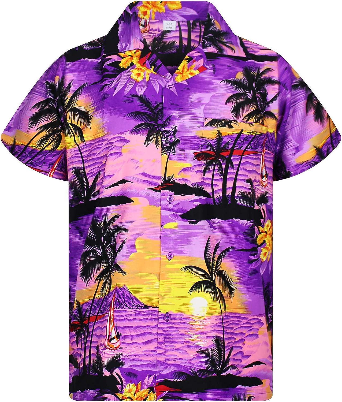 VHO Funky Hawaiian Shirt, Shortsleeve, Surf, Purple, 4XL