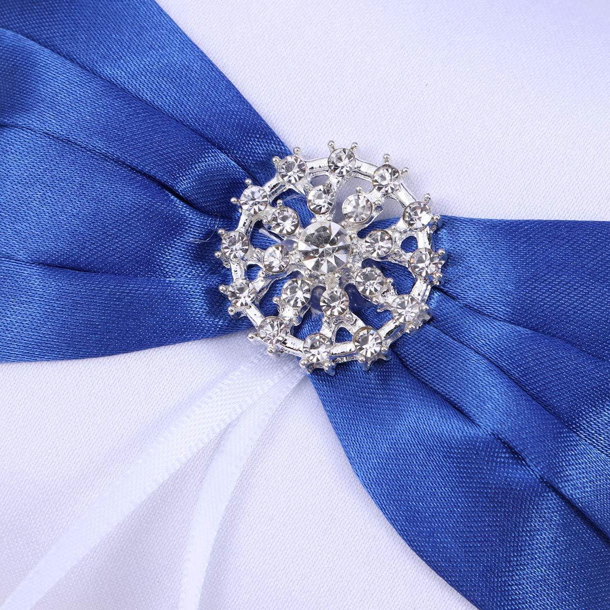 TOYANDONA Hochzeit Ringkissen Blau Bowknot Strass Braut Ring Inhaber Halter Kissen Hochzeit Ring Box f/ür Hochzeitsdekoration
