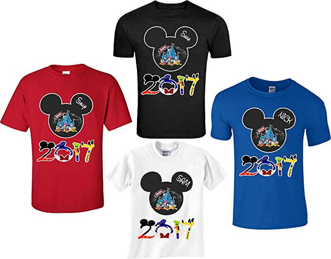 ebdea390e Image Unavailable. Image not available for. Color: Disney Family Vacation  Mickey T-Shirts Matching ...