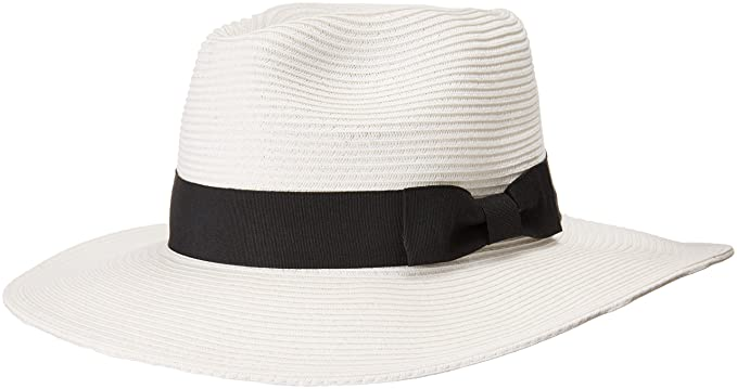 Stevie Fedora Wide Brim Straw Hat for Women Packable UPF 50 Sun Protection  (Large dc0f08218c81
