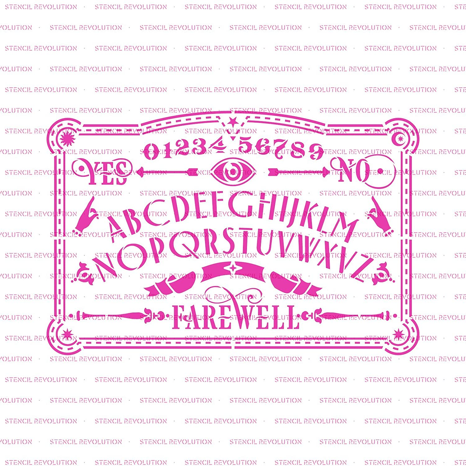 Amazon Ouija Board Stencil Template For Walls And Crafts