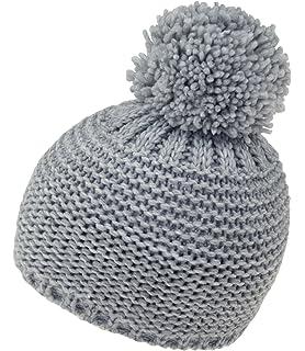 Fiebig Bonnet En Tricot Garçons À Pompon Chapeau De Promenade Calotte  D Hiver Uni Doublure 1236bf67780