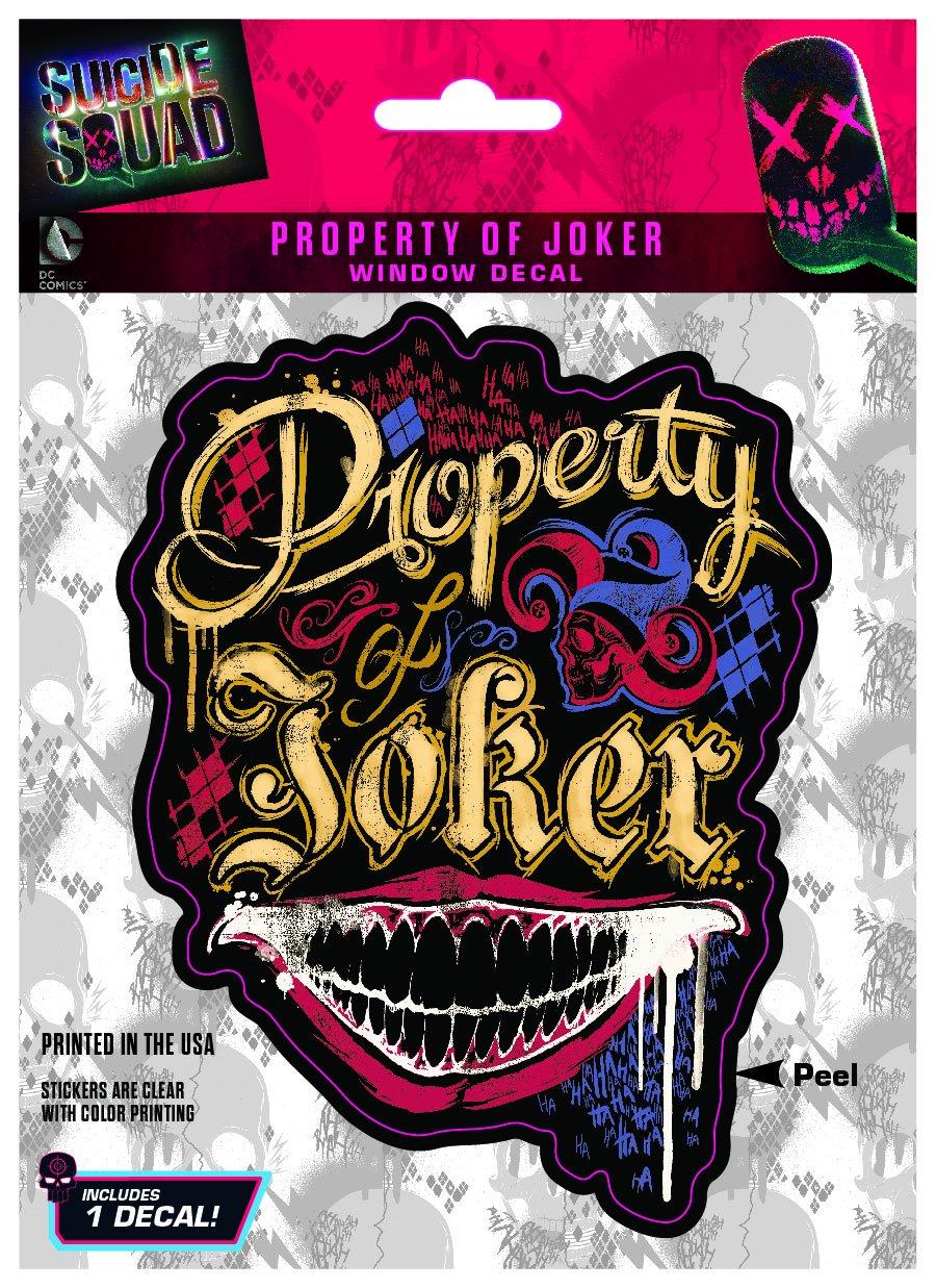DC Suicide Squad Suicide Squad Property of Joker DC Comics ST SSQD JKPROP Car Window Decal