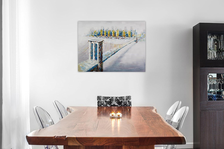 KunstLoft® Acryl Gemälde \'Beyond the Brooklyn Bridge\' 80x60cm ...