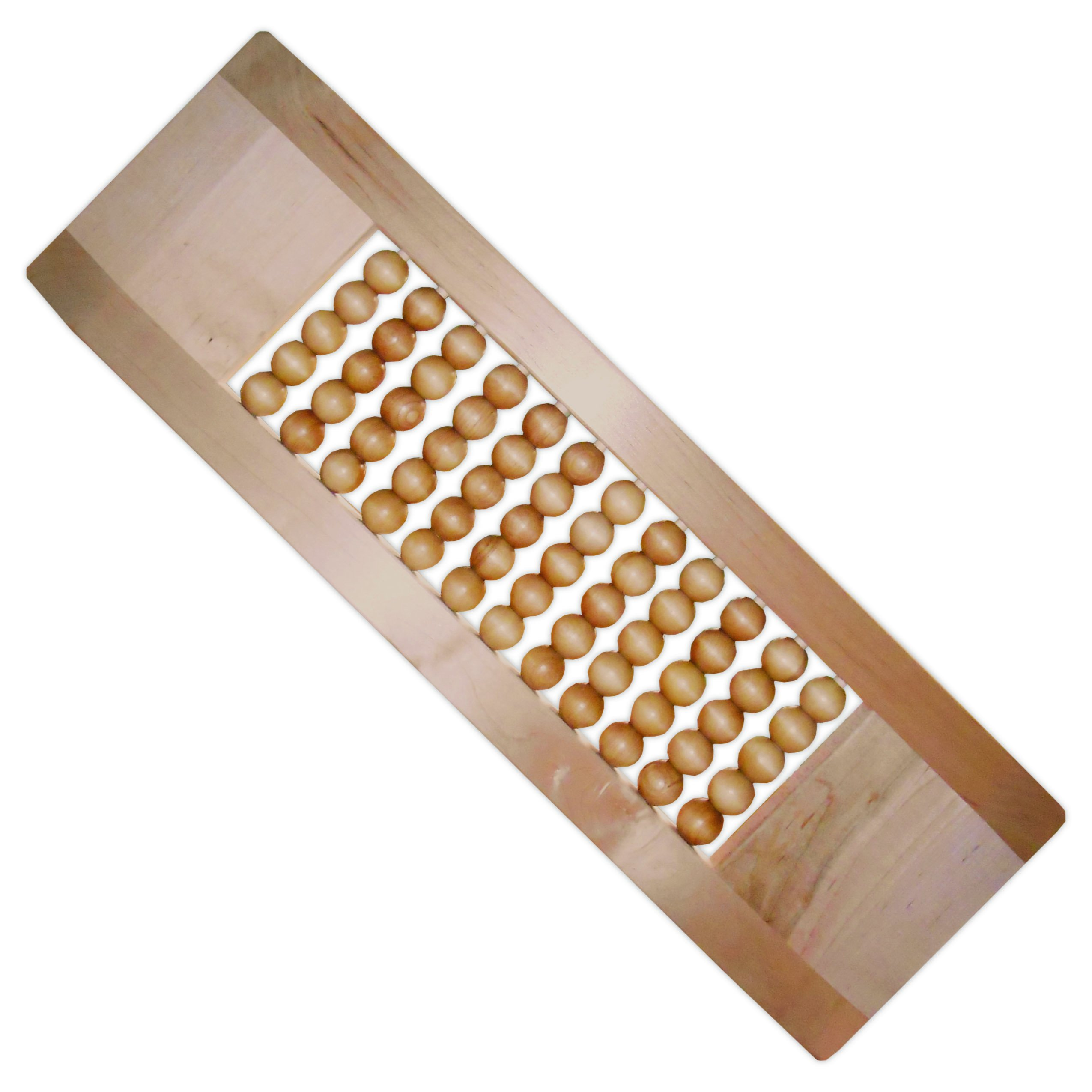 """Rehabilitation Advantage Maple Scooter Tapered Transfer Board Long with Wood Rolling Beads, 26"""" Long"""