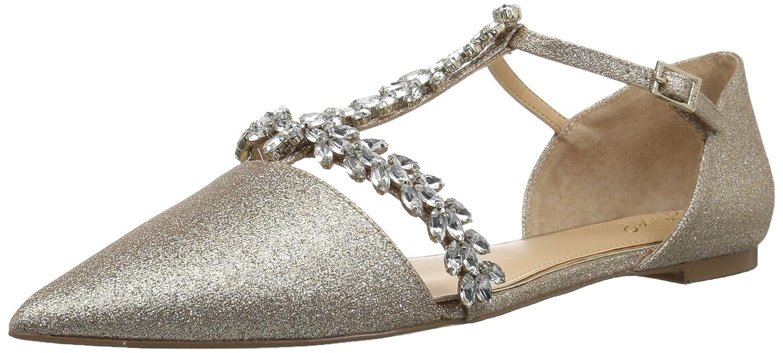 Badgley Mischka Jewel Women's Maury Mary Jane Flat B0781VSTGR 6 B(M) US|Gold Glitter