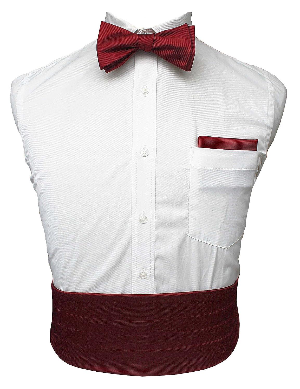 JEMYGINS Mens Formal Cummerbund and Bow Tie Pocket Square Set