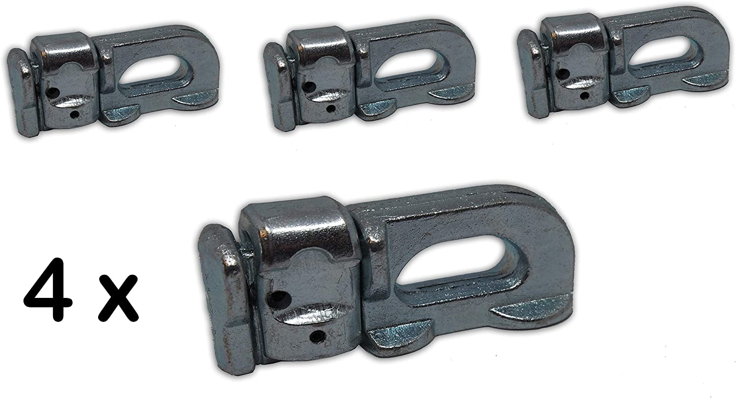 Ntg 4x Doppel Fitting Endbeschlag Endfitting Airlineschiene Double Stud Ohne Ring Auto
