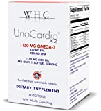 WHC - UnoCardio X2 - Triglyceride Omega-3 Fatty acids - 1270 mg Fish Oil Supplement (622 mg EPA / 420 mg DHA/Total 1150…