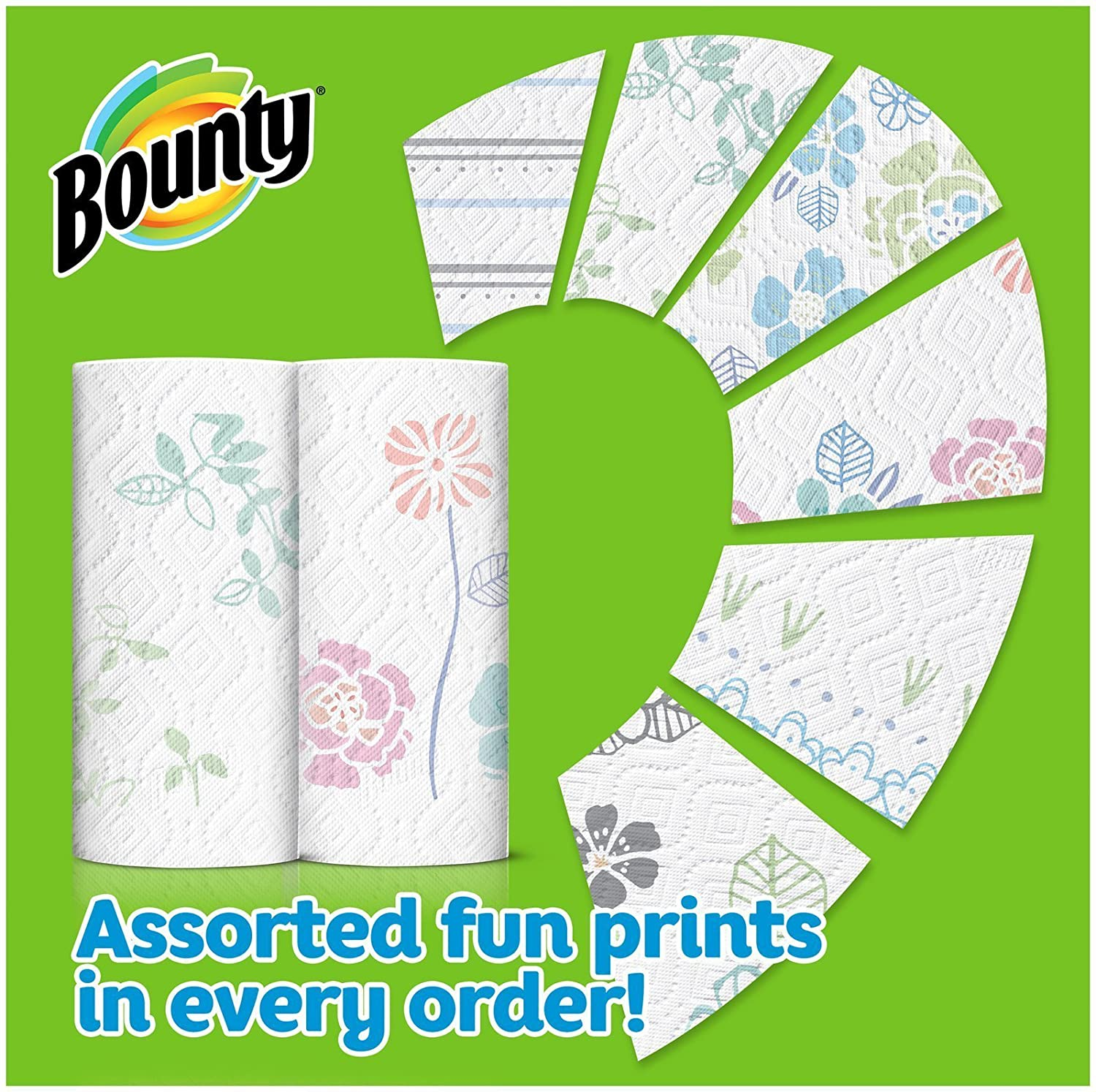 Amazon.com: Bounty Bounty paper towels, print, 2 big roll=33% more sheets, 2 Count: Health & Personal Care